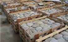 River Stone for Walling, Natural Surface, Rounded, Back Sawn Stones