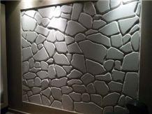 Thassos Tumbled Flag Stone Wall Pattern Free Size
