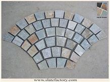 Fan-Shaped Mesh Paver Stone, Slate Mesh Stone Pavers
