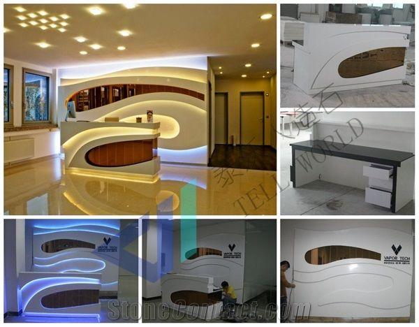 Superieur Artificial Marble Reception Counter Office Reception Desk Design