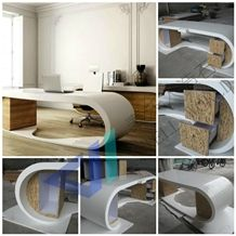 Office Desk Furniture Artificial Marble Table Modern Ceo Office Table