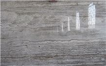 Silver Travertine Slabs & Tiles, Iran Grey Travertine