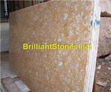 Shells Reef Beige Limestone Slab, Syria Yellow Limestone