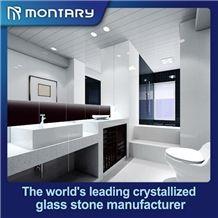 Pure White Nano Crystallized Glass Stone Vanity Top