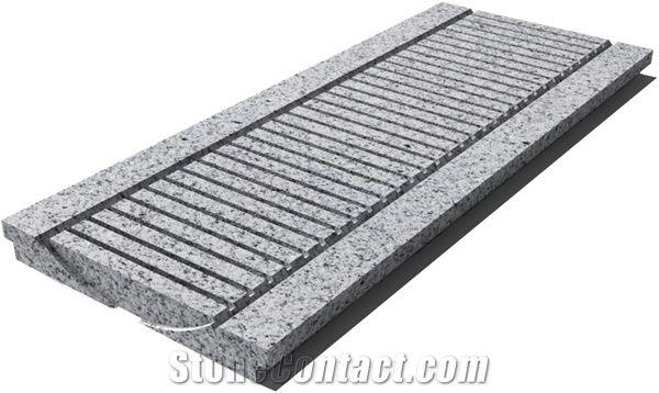 granite g603 drain grate 610x250x30 mm prof 0d sandblasted