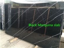 Black Nero Marquina, China Black Marble Slabs & Tiles