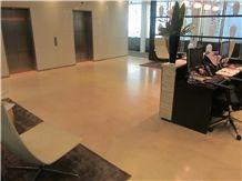 Crema Perla Limestone Slabs & Tiles, Beige Polished Limestone Floor Tiles, Floor Covering Tiles Spain