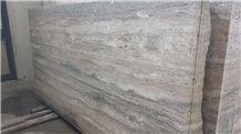 Travertino Silver Slabs & Tiles, Grey Polished Travertine Flooring Tiles, Walling Tiles
