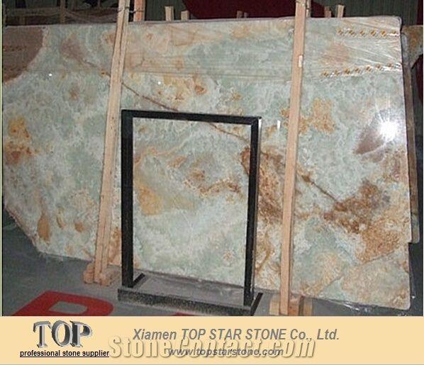 e0d64b977c8c Light Ice Blue Onyx Slabs from China - StoneContact.com