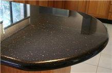 Indian Black Galaxy Granite Kitchen Countertop