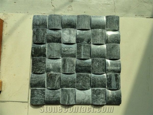 Natural Green Marble Basketweave Shape Mosaic Pattern For Interior Wall Cladding Decoration Tv Wall Background Design From China Stonecontact Com