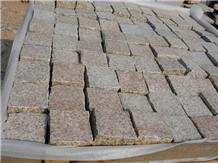 G350 Yellow Granite Cobble Stone