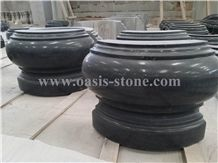 G654 Dark Grey Granite Column Bases