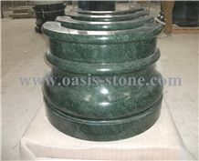 India Green Marble Columns Bases
