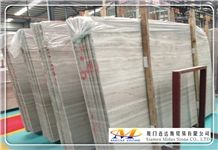 China Cheap White Wood Marble Slabs