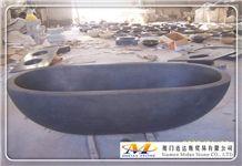 China Travertine Stone Bathtub
