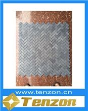 Chevron Shape Grey Mosaic Tiles, Parnon Grey Marble Mosaic