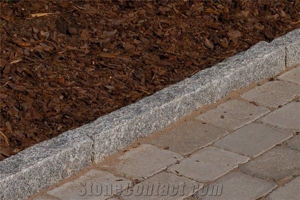 Grey Granite Curbs, Kerbstone from Finland - StoneContact com