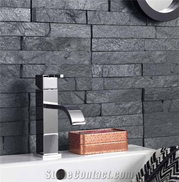Slate Bathroom Wall Decor Black Slate Cultured Stone From