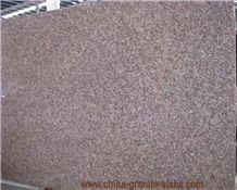 China G687 Peach Red Granite Slabs Gangsaw Slabs Supplier