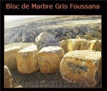 Grey Foussana Limestone Block, Tunisia Grey Limestone