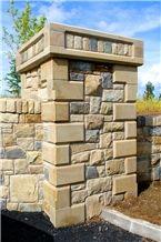 Donegal Sandstone Quoins and Pillar Cap