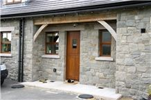 Grey Armagh Limestone with Brown Armagh Limestone Cills and Lintels