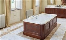 Calacatta Oro Marble Bath Tub Surround,Rod Brown Marble Bathroom Floor