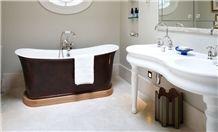 Crema Marfil Marble Bathroom Flooring