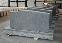 G633 Grey Granite American Light Gray Die P5 Serp Top Monument & Tombstone