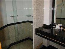 Dark Labrador Granite Vanity Top Zelezny Brod Granite Wall Application