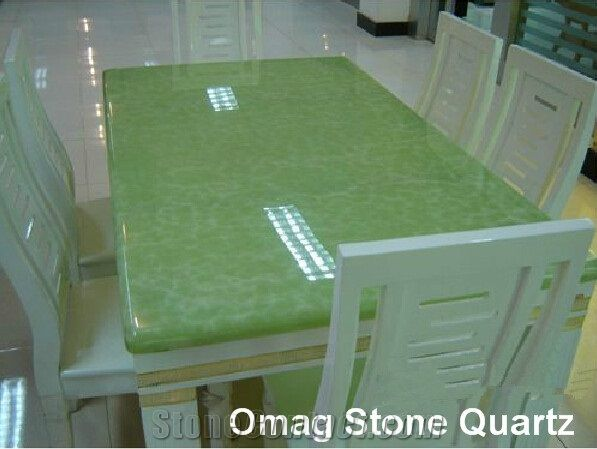Omag Artificial Green Onyx Solid Surface Cafe Table Tops from China ...
