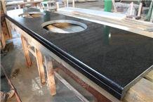 Gabbro Starry Night G8 Granite Kitchen Countertop, Black Granite Vanity Tops, Bath Tops