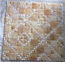 Yellow Onyx Mosaic Pattern Tiles