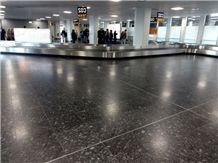 Azul Noche Granite - Night Blue Granite Cologne Airport Project Floor Application