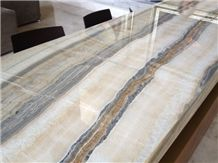 Zebra White Onyx Slabs & Tiles