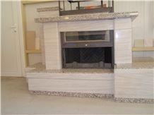 Greek Marble Wood Burning Fireplace Hearth Tz029