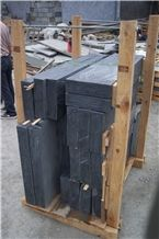 China Black Nero Slate Building Ornaments Stone for Castle Walling Panel,Garden Floor Stepping Patio