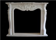 Beijing White Marble Fireplace Surround, Fireplace Accessories