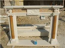 Limestone Fireplace Mantel, Fireplace Accessories, China Yellow Limestone
