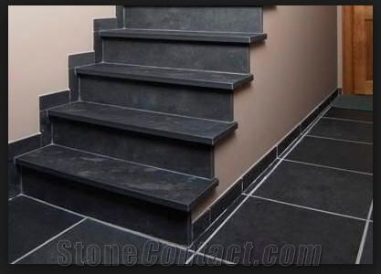Brushed Mustang Black Slate Stairs Steps And Risers From