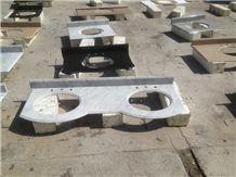 China Professional Competitive Price Countertop Manufactory,Carrara White Marble Bath Countertop, Vantity Top