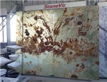Pakistan Green Onyx Slabs & Tiles