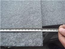 G684 Raven Black Flamed Basalt Tiles