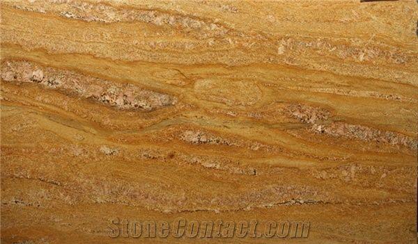 Imperial Gold Granite Slabs Tiles India Yellow Granite