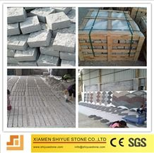 China Natural Stone Flamed, Natural Split Grey Granite Paving, Cubes Pavers, Stepping Pavements, Landscape Drainage, Setts, Fieldstone, Cobble Cobblestone, Sets for Walkway, Driveway, Exterior Pattern