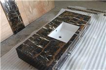Honeycomb Panels Backed Marble Bathroom Countertops
