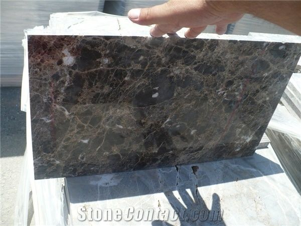Dark Emperador Marble Polished Broken Tiles 2 Cm, Brown Marble Floor Covering Tiles, Walling Tiles from Spain