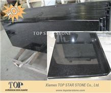 Black Galaxy Prefab granite veneer countertop