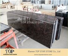 India Tan Brown Granite Fullnose Bench Tops